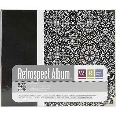 We R Memory Keepers™ Printed 3 Ring Album, 6in. x 6in., Moroccan Black