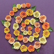 Quilled Creations Spiral Roses Quilling Kit, Orange/Peach/Yellow