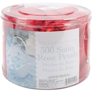 Darice RC-7210-02 Victoria Lynn Satin Rose Petals, Red, 300/Pack