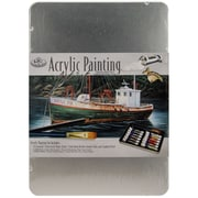 Royal Brush® Acrylic Painting Art Set With Medium Tin