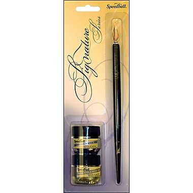 Speedball® Art Products Signature Series Calligraphy Set, Gold & Silver Ink
