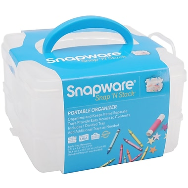 Snapware® Snap 'n Stack 2 Layers Small Square Craft Organizer