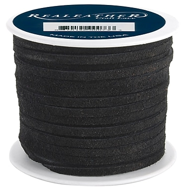 Silver Creek 1/8in. x 25 yds. Suede Lace, Black
