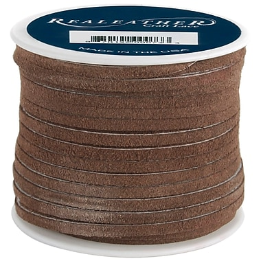 Silver Creek SOS25-2003 Brown Suede Spool, 25 yd. x 1/4