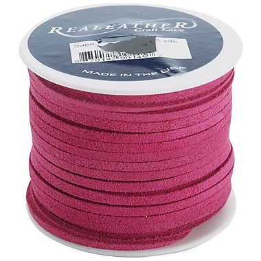 Silver Creek 1/8in. x 25 yds. Suede Lace, Pink