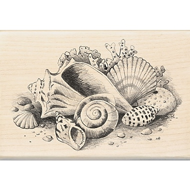 Inkadinkado® 2 3/4in. x 4in. Mounted Rubber Stamp, Seaside Still Life