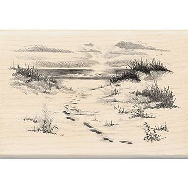 Inkadinkado® 2 3/4in. x 4in. Mounted Rubber Stamp, Beach