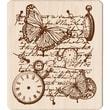 """Inkadinkado® 3 1/2"""" x 4"""" Mounted Rubber Stamp, Time Flies Collage"""