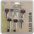 Advantus™ Tim Holtz® Idea-Ology Word Keys, 3in. x 1 1/2in., 7/Pack, Antique Nickel