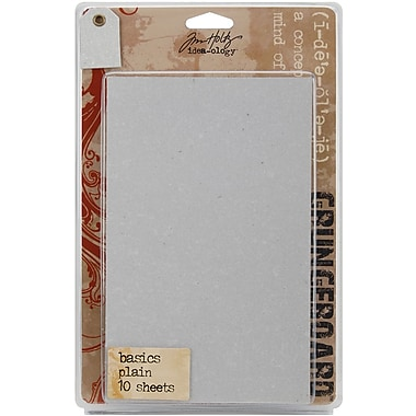 Advantus™ Tim Holtz® Idea-Ology Paper Grungeboard Basics, 7in. x 5in., 10/Pack