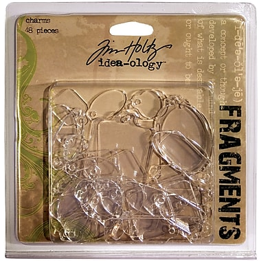 Advantus™ Tim Holtz® Idea-Ology Plastic Fragments Charms, 48/Pack, Clear Acrylic