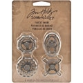 Advantus™ Tim Holtz® Idea-Ology Metal Faucet Knobs, 1 1/2in. x 1in., 4/Pack, Silver Oxide