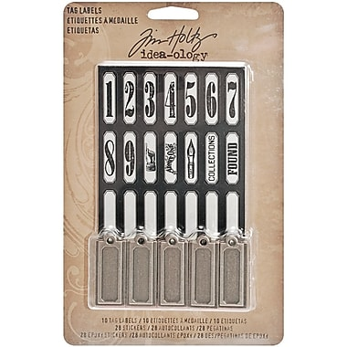 Advantus™ Tim Holtz® 1 1/4in. x 1/2in. Idea-Ology Tag Labels, Antique Nickel, 10/Pack