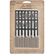Advantus™ Tim Holtz® 1 1/4 x 1/2 Idea-Ology Tag Labels, Antique Nickel, 10/Pack