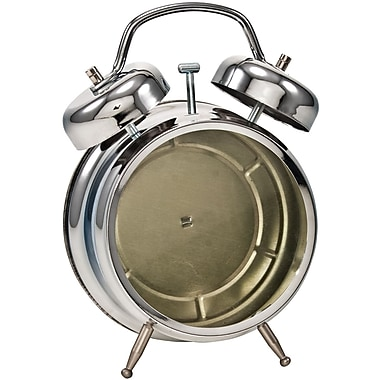 Advantus™ Tim Holtz® 7 1/4in. x 5 1/2in. Idea-Ology Assemblage Clock, Polished Silver