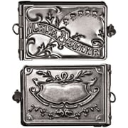 "Advantus™ Tim Holtz® 2"" x 1"" Idea-Ology Locket Book, Antique Nickel"