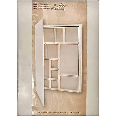 Advantus Corp. TH93078 Beige Idea-Ology Configurations Chipboard Shadowbox Book, 9