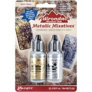 Ranger Tim Holtz® Adirondack Alcohol Ink Metallic Mixatives, Gold/ Silver