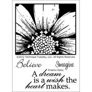 Technique Tuesday® 3 x 4 Clear Stamp, Dreamy Daisy