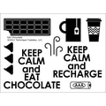 Technique Tuesday® 3in. x 4in. Clear Stamp, Eat Chocolate
