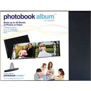 Unibind® Landscape Photobook Album With Window, Black, 8 1/2 x 11