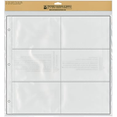 Uniformed Scrapbooks Photo Sleeve Refill Pages, 12in. x 12in., 10/Pack