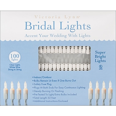 Darice® 32' Bridal Lights With White Wire, Clear