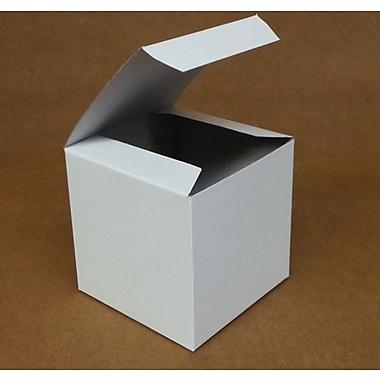 Boîte-cadeau nº 44, blanc, 4 x 4 x 4 (po)