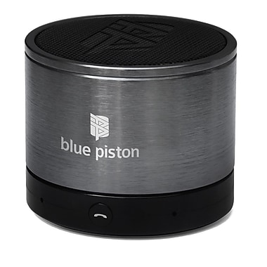 Logiix Blue Piston Wireless Bluetooth Speaker, Gunmetal, LGX-10572