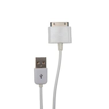 Logiix – Câble de recharge et de synchronisation, connecteur USB à 30 broches, LGX-10125, 1 m, blanc