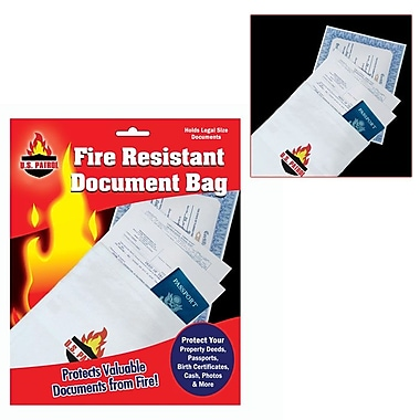Trademark Global® 9in. x 14in. Fire Resistant Document Bag
