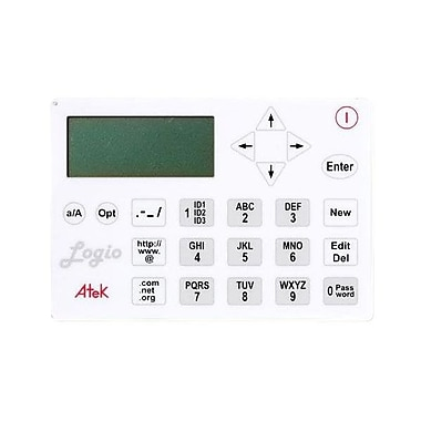 Atek LG10W Logio Secure Password Organizer, White