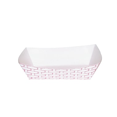 Boardwalk® 2.5 lbs. Paper Food Tray, Red Weave, 500/Case