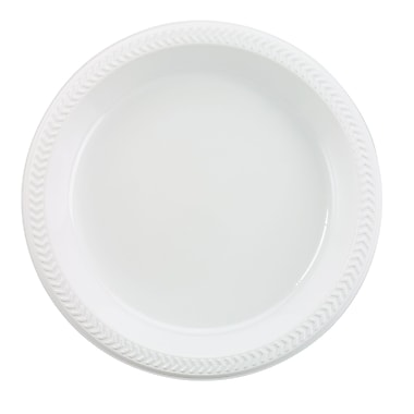 Boardwalk® Hi-Impact 9in. Light Weight Plastic Plate, White, 1000/Case