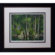 Blue Heron Framed by AJ Casson