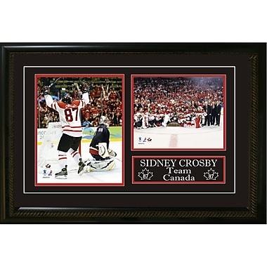 Sidney Crosby Double Framed Team Canada Olympic 2010 Photos