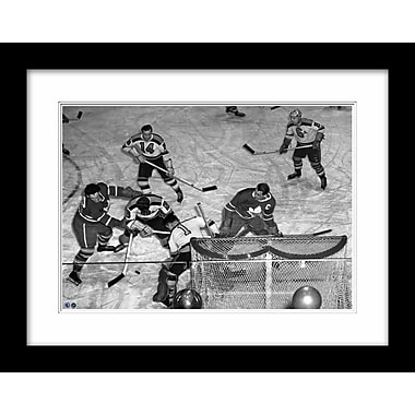 Framed Photo Apps vs. Dumart - Toronto Maple Leafs vs. Boston Bruins