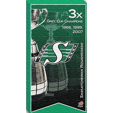 Saskatchewan Roughriders Canvas, Grey Cup Champions