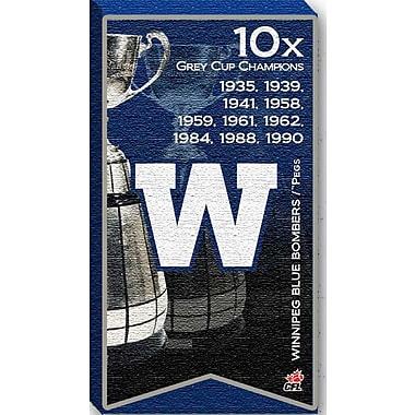 Winnipeg Blue Bombers Canvas, Grey Cup Champions