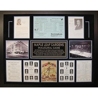 Framed Maple Leaf Gardens Inaugural Game Program Collage