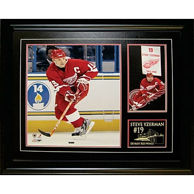 Steve Yzerman Framed Detroit Red Wings With Banner Print
