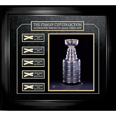 Stanley Cup Framed Game - Used Net Collection - 2008 to 2012