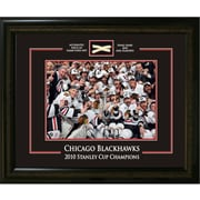 Chicago Blackhawks Framed with Piece of Net from the 2010 Stanley Cup