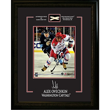 Alex Ovechkin Framed Photo, Etched Signature, and Piece of Game Used Net from the 2011 Winter Classic