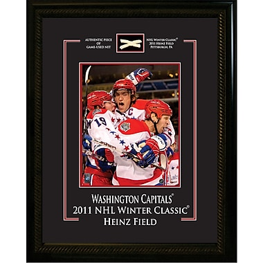 Washington Capitals Framed with Piece of Game Used Net from the 2011 Winter Classic