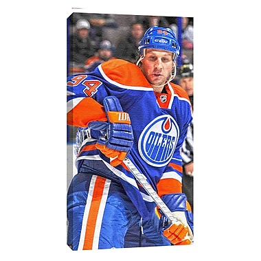 Ryan Smyth Canvas, Edmonton Oilers, Dark Jersey