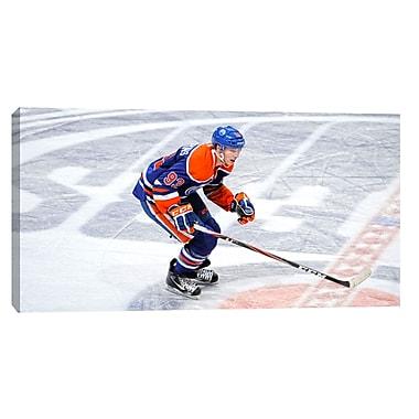 Ryan Nugent-Hopkins Canvas, Edmonton Oilers, Dark Jersey Horizontal