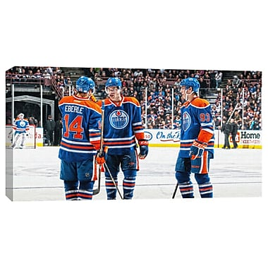 Taylor Hall, Jordan Eberle, Ryan Nugent-Hopkins Canvas, Edmonton Oilers