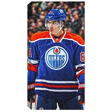Nail Yakupov Canvas, Edmonton Oilers, Dark Vertical