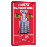 Chicago Blackhawks Stanley Cup Banner Canvas, with Cup Photo